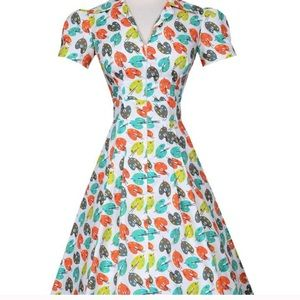Bernie Dexter Pin up Derby Dress in Pretty Pastel